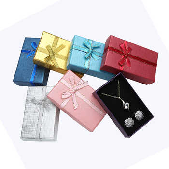 Jewelry Box 5*8 Cm Jewelry Sets Display Multi Colors Necklace/Earrings/Ring Box Paper Packaging Gift Box for Jewellery 24pcs/lot - DISCOUNT ITEM  10% OFF All Category