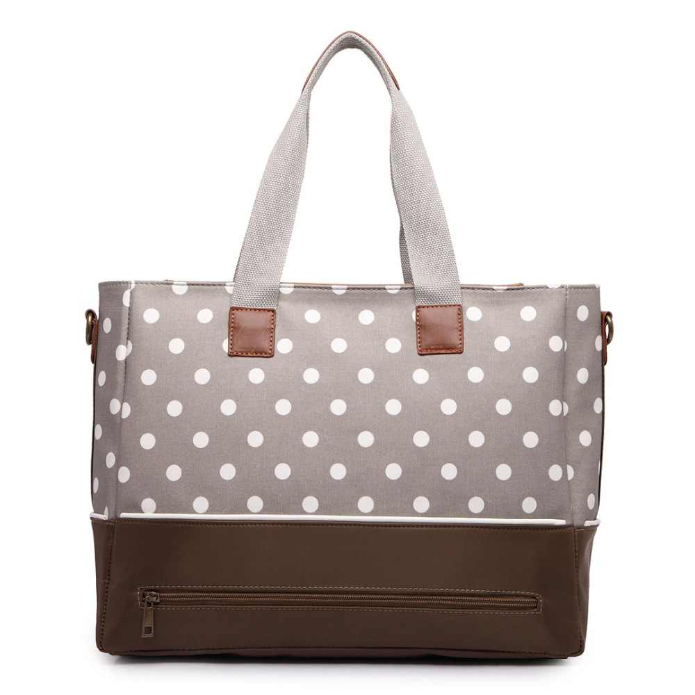 c8760d476f07a ... Miss Lulu 3 Pieces Polka Dots Baby Changing Bag Set Diaper Nappy Bags  Matte Oilcloth Maternity ...