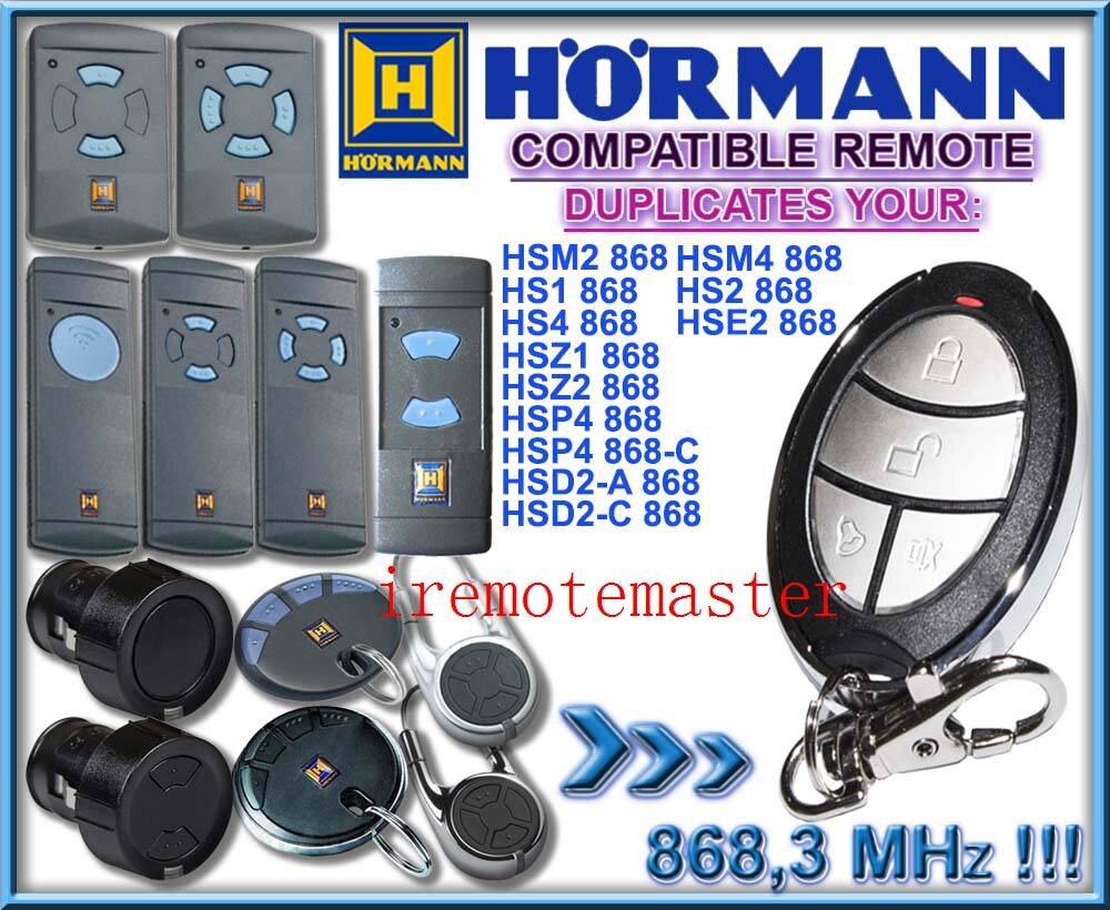 Hormann hsm2 ,hsm4 ,hs1 ,hs2,hs4 ,hse2 ,hsz1 ,hsz2 ,hsp4 ,hsp4 -c,hsd2-A 868mhz remote control replacement transmitter hormann hs1 868 hs2 868 hs4 868mhz remote control replacement