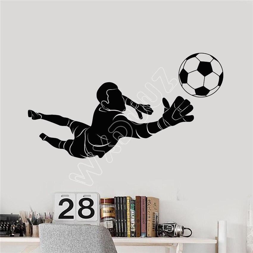 WXDUUZ Vinyl Wall Decal Soccer Goalkeeper Player Ball Sport Stickers living room space Vinyl Wall Sticker Home Decor B482