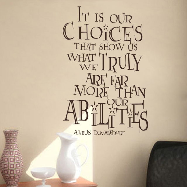It Is Our Choices That Show Us...Harry Potter Albus Dumbledore Quotes Vinyl : harry potter quote wall decals - www.pureclipart.com
