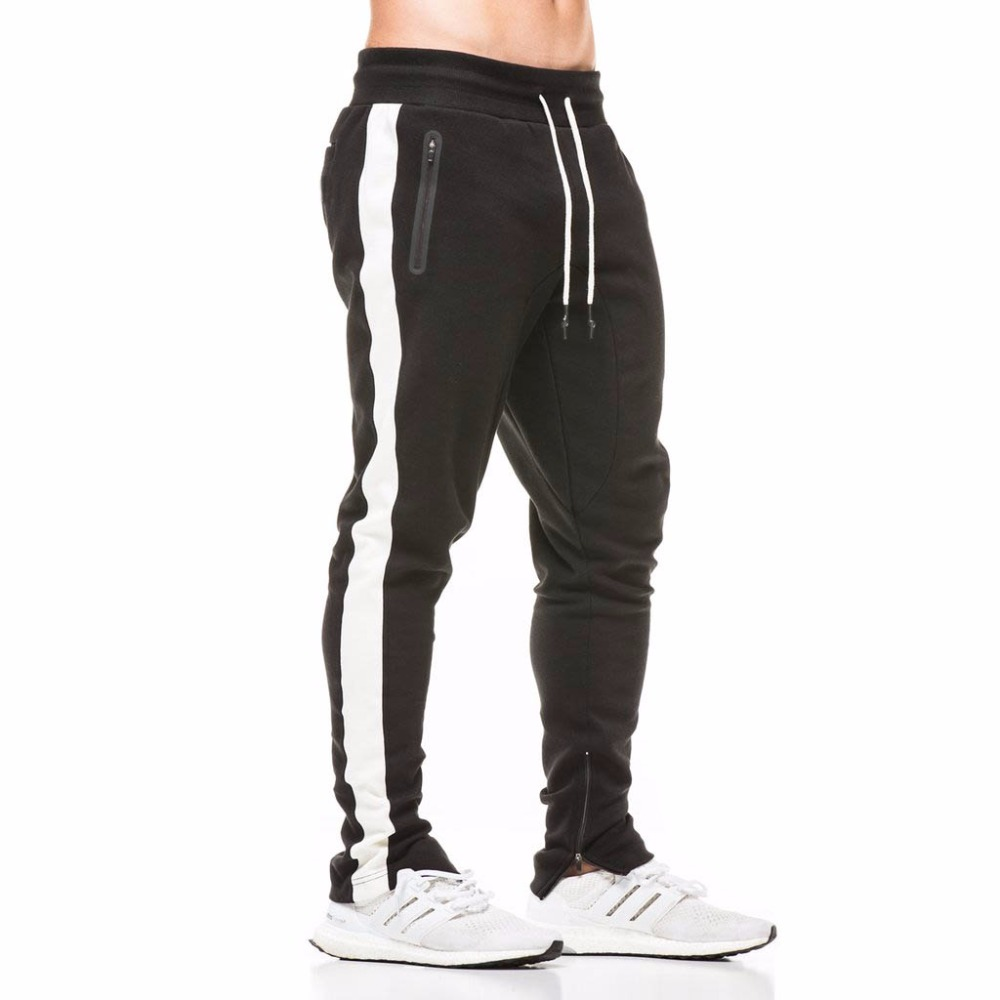 Mens Brand Sweatpants Man Fashion Casual Gyms Workout Fitness Sportswear Pencil Pant Cotton Ttrousers Male Joggers Track Pants strength training