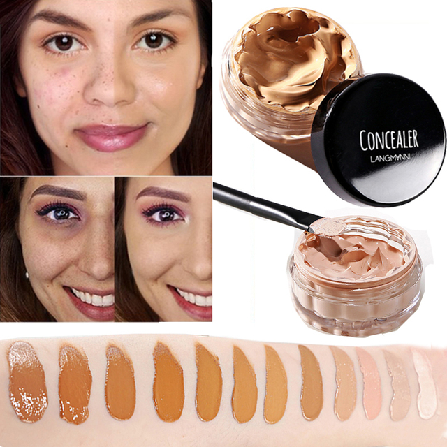 Concealer Cream Face Skin Contour Make Up Base Long Lasting Moisturizer 12 Colors Eyes Brighten Cosmetic Makeup Primer 1