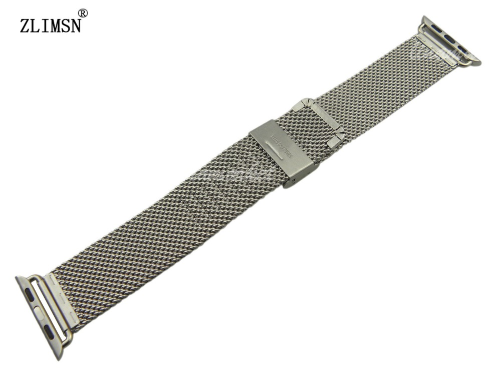 ZLIMSN 38mm 42mm Milanese Magnetic Loop Stainless Steel Strap Watch Bands for watch Watchband