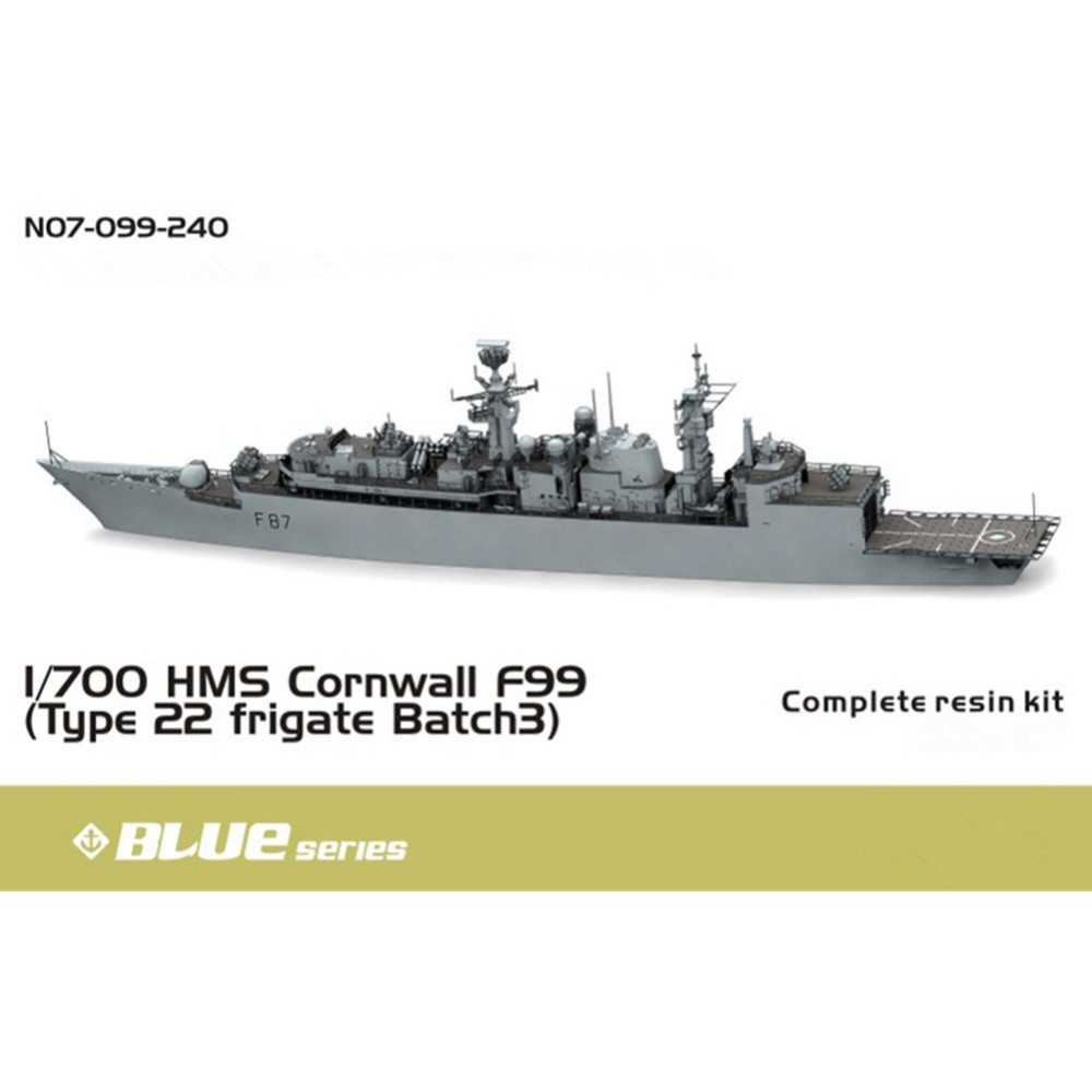 OHS Orange Hobby N07099240 1/700 HMS Cornwall F99 Type 22 frigate Batch 3 Assembly Scale Military Ship Model Building Kits oh camp hms lock