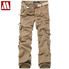 Mens Big Size Army Pants Hip-Hop washed cotton casual pant male multi-pocket Military cargo pants man's Pockets trousers C455