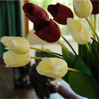 ヨーヨー町卸売大パープルリアルタッチ結婚式人工シルクチューリップシミュレーションの花の家の装飾 (20 ピース/ロット) 62 センチメートル 7 色