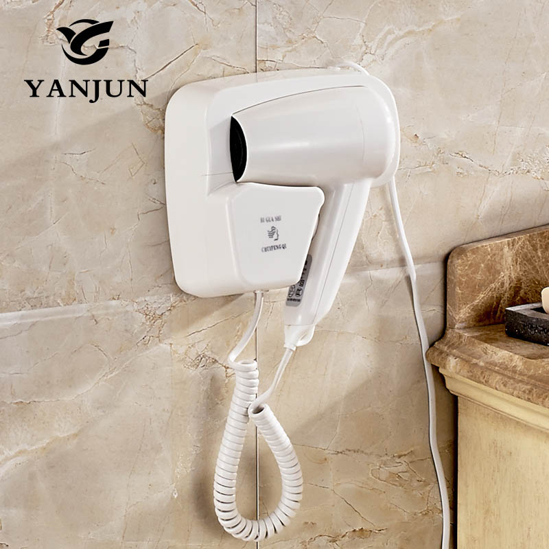 YANJUN  Professional Hotel Bathroom Two Wall Mounted Hair dryer  Hair SalonHood Dryer Two Hot Speed For Option1300W  YJ-2101A giftforall hair dryer hotel bathroom home professional hair salon powerful wall mounted portable mini hairdryer d139 d