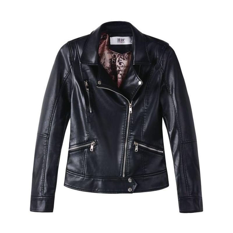 Women   Leather   Jackets Ladies Short Design Slim Elegant PU Faux   Leather   Jacket Coats Motorcycle Outwear Women Plus Size Clothing