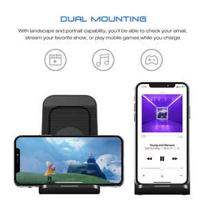 Image 4 - FDGAO Fast Qi Wireless Charger Quick Charge 3.0 USB 10W Fast Charging Stand with Cooling Fan for iPhone XR XS X 8 Samsung S10 S9