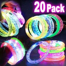 20pcs Neon Party Glowstick Glow in the Dark Toy Fluorescence Sticks Bracelets Necklaces Party Supplies Luminous Home Decor 20pcs christmas party supplies colorful glow sticks
