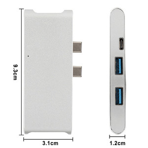 Image 5 - Nieuwe Type C Hub Connector USB C Converter HDMI 4 K USB 3.0 Hub SD TF kaartlezer lader voor Macbook USB C Hub HP PC laptop Hub
