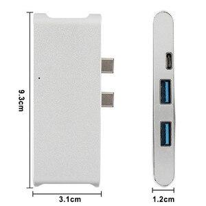 Image 5 - Nowy typ C Hub złącze USB C konwerter HDMI 4 K, Hub USB 3.0 karta SD TF czytnik ładowarki do macbooka USB C centrum HP PC laptop piasty