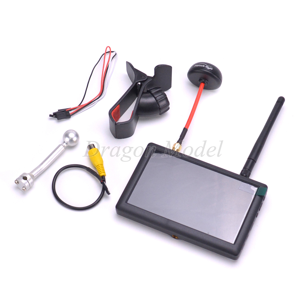 Hawkeye Little Pilot III Photography 5inch 5.8G 40CH FPV HD Monitor 800 X 480 Aerial FPV Displayer Display Monitor With Antenna 5 8g 32ch 400mw double way integration fpv transmitter for dealing with aerial photography dual angles antenna free shipping