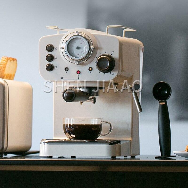 15Bar Semi-automatic Espresso Coffee Maker Small Steam Type Milk Foam Office Home Italian Coffee Machine/simple Operation 1000W