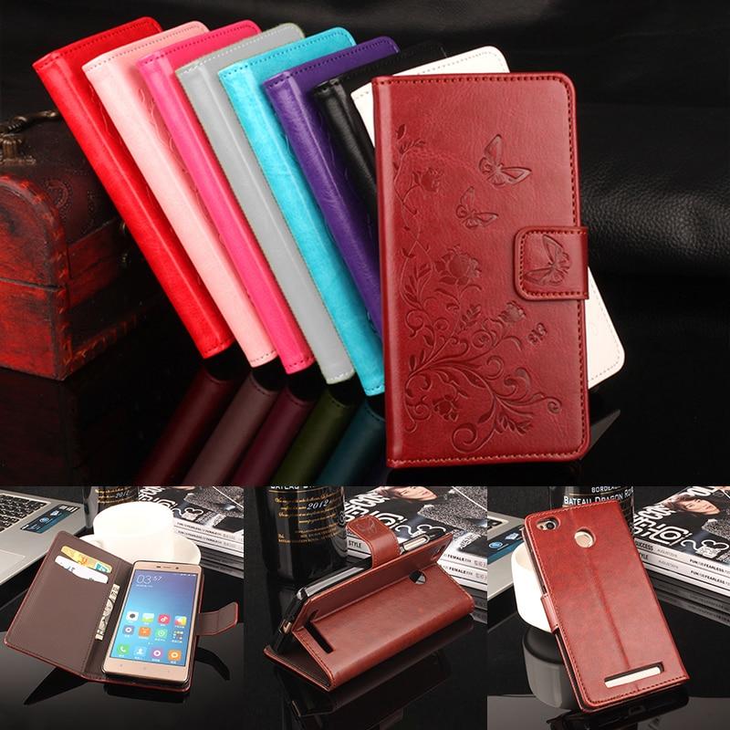 Xiaomi Redmi 3S Väska Flip Cover för Xiaomi Redmi 3S Pro Läderfodral till Xiaomi Redmi 3 Pro Wallet Väska till Redmi 3 S / 3 S Pro