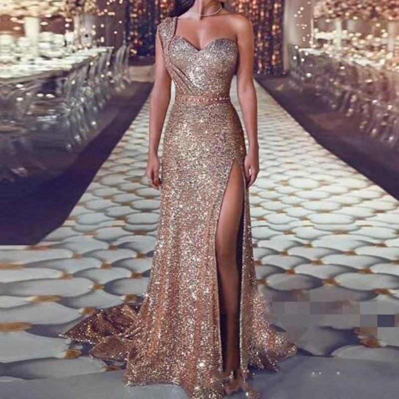 Custom Made   Prom   Gowns Cheap robe de bal vestido formatura Mermaid   Prom     Dresses   Sexy Slit Long Formal   Dress   Beaded gala jurken