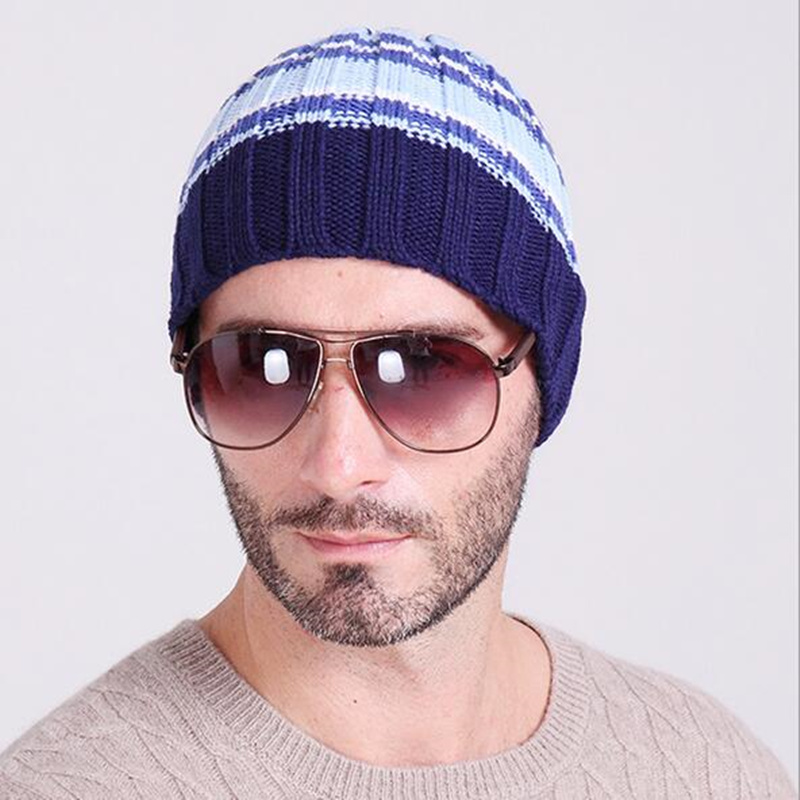 New Gorros 2017 Fashion Casual Men Skullies Beanies Winter hats keep Warm  women Knitted stripe Hat Warm Baggy Balaclava Caps new gorros 2017 fashion casual men skullies beanies winter hats keep warm women knitted stripe hat warm baggy balaclava caps