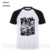 48cd2d3f3 2018 moda No Pain No Gain padres día regalo hombres camisetas riverdale  evangelions steven negro blanco pug universo camiseta