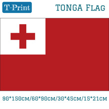 Free shipping /90*150cm/60*90cm/15*21cm Tonga National Flag 3*5ft Banner Polyester For Olympic Games / World Cup Day