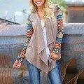 Женская мода Нерегулярные Свитер Кардиган Осень Случайные Вязать Пальто И Пиджаки Топы