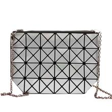 Clutches Women Geometric Clutch Bag Women Messenger Bag Patchwork Laser Clutch Purse Bag Female Fashion Make Up Bags