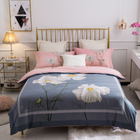 Spring Flowers Garden 100% Cotton Printed Bedding set High quality Duvet Cover set Bed Sheet Pillowcases Queen King Size 4pcs