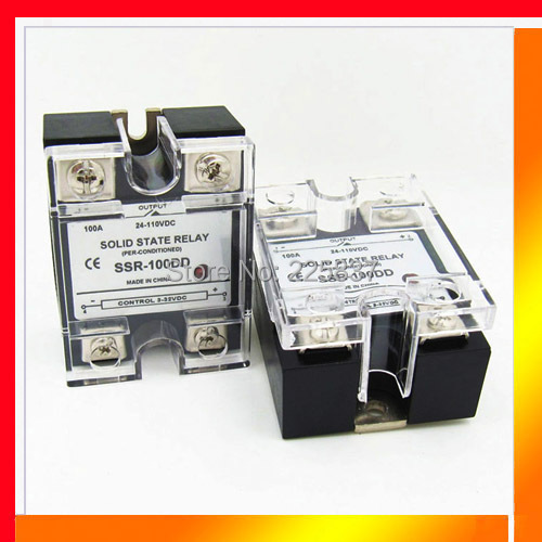 SSR-100DD (2 pcs/Lot) high quality JGX-100F DC 3-32v to DC 5-220v single phase DC-DC SSR, 100A SSR, solid state relay ssr relay white shell 220v 3 32v single phase solid state relay ssr dc control ac fotek 80a ssr 80da