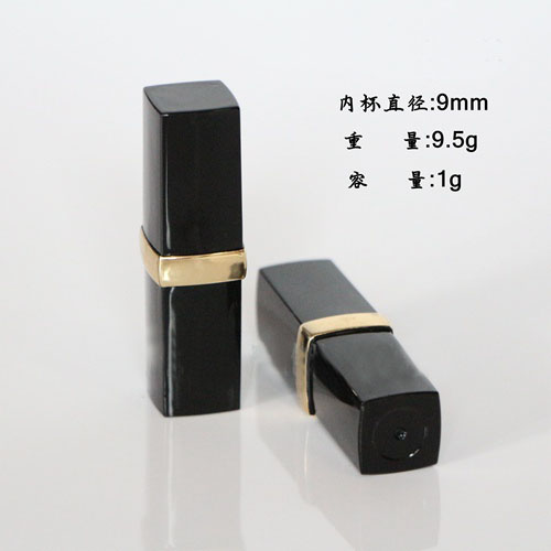 free shipping 9mm 10/20/50pcs/lot high-grade black golden lipstick tube , empty lip balm container free shipping 12 1mm 10 20 50pcs lot black white high grade lipstick tube spotted empty lip balm container
