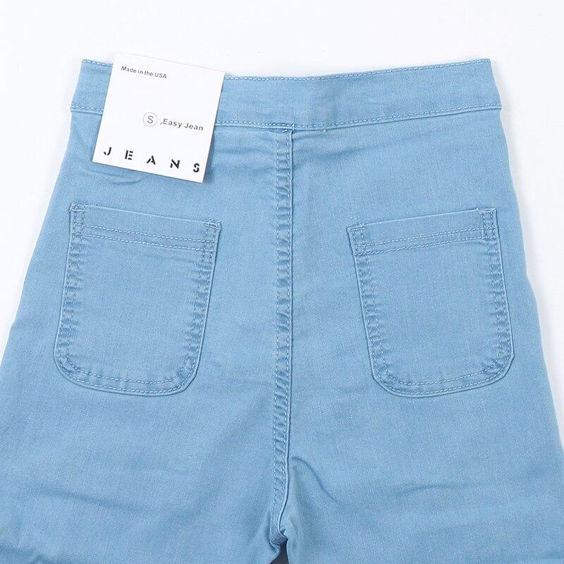 2019 New Fashion Jeans Women Pencil Pants High Waist Jeans Sexy Slim Elastic Skinny Pants Trousers