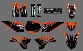 Pegatinas de equipo H2CNC 0546, Kits de gráficos y fondos para KTM SX 50 2009 2010 2011 2012 2013