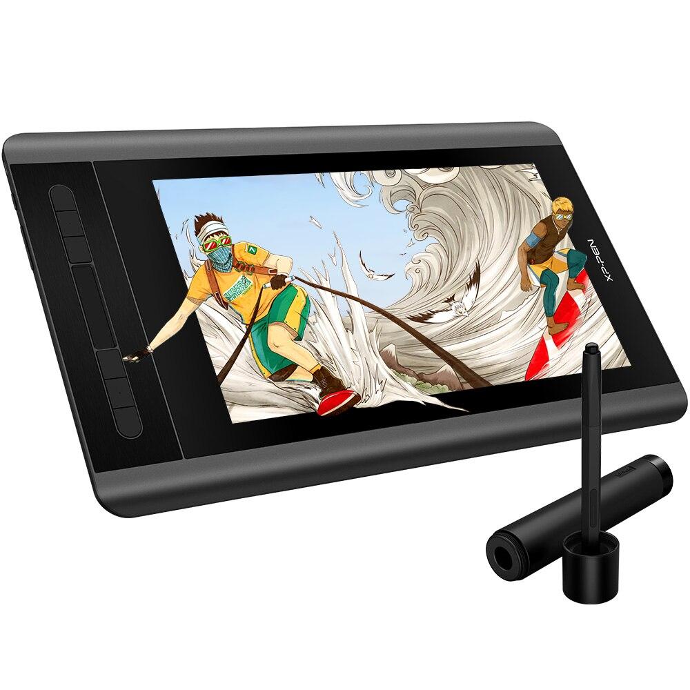Xp-caneta artista 12 gráficos tablet desenho tablet desenho monitor 1920x1080 hd ips com teclas de atalho e almofada de toque (+ p06)
