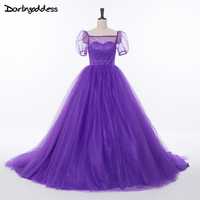 Maternity Pregnant Photograhpy Wedding Dresses Ball Gown Lace Up Women Purple Red Cheap Wedding Dresses 2017