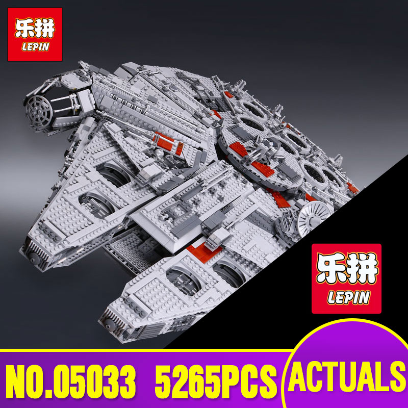 LEPIN 05033 5265Pcs Star Ultimate Collector's Millennium Model Building Kit Falcon Blocks Wars Bricks DIY Toy Compatible 10179 kitlee40100quar4210 value kit survivor tyvek expansion mailer quar4210 and lee ultimate stamp dispenser lee40100