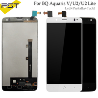 For BQ Aquaris U2 / U2 Lite For BQ Aquaris V / VS LCD Display Touch Screen Assembly 100% working well LCD Panel Tactil