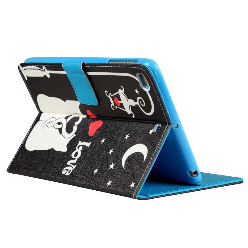 Чехол с милым котом для iPad Mini 4, откидной Магнитный чехол-подставка из искусственной кожи для iPad Mini 1, 2, 3, умный чехол для iPad Mini 2, чехлы Retina