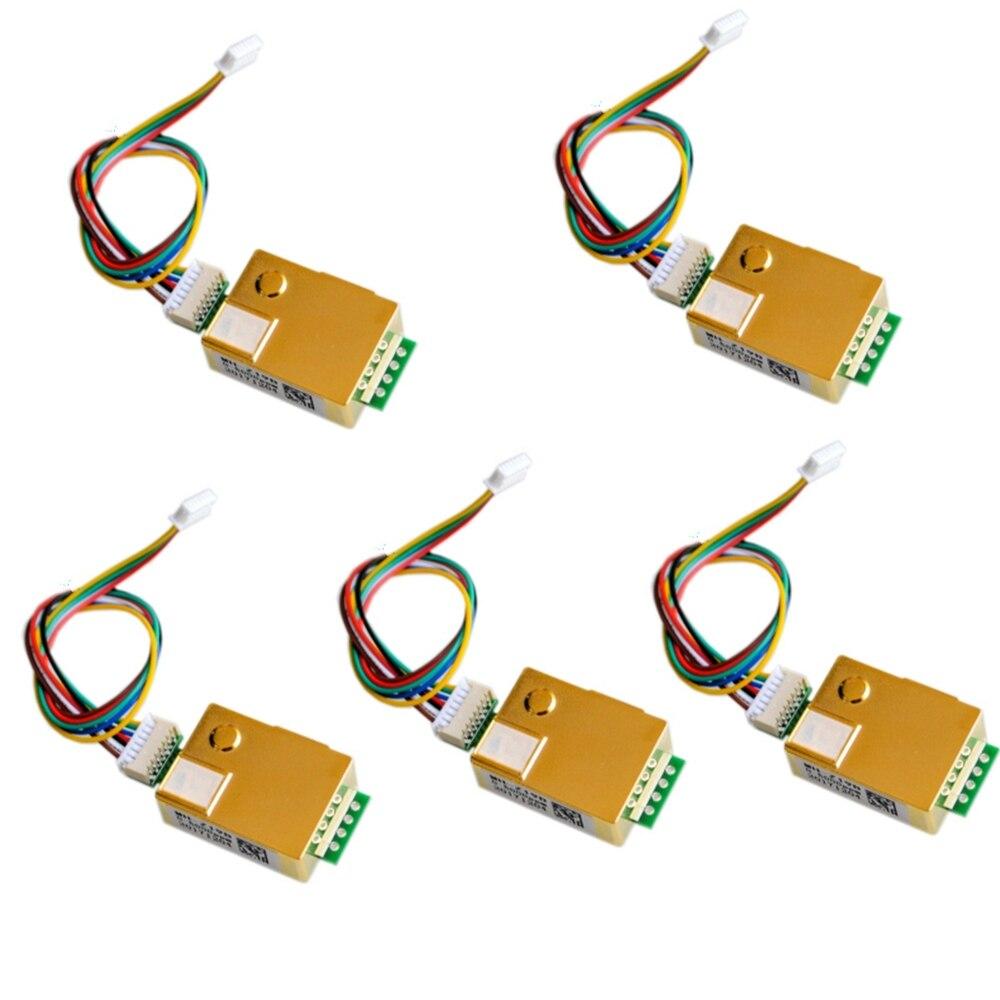 Sensor de Gás Pwm para o Monitoramento da Qualidade do ar da Atac Infravermelho Ndir Módulo 0-5000ppm Mh-z19 Uart Fz3392 5 Pcs Mh-z19b Co2