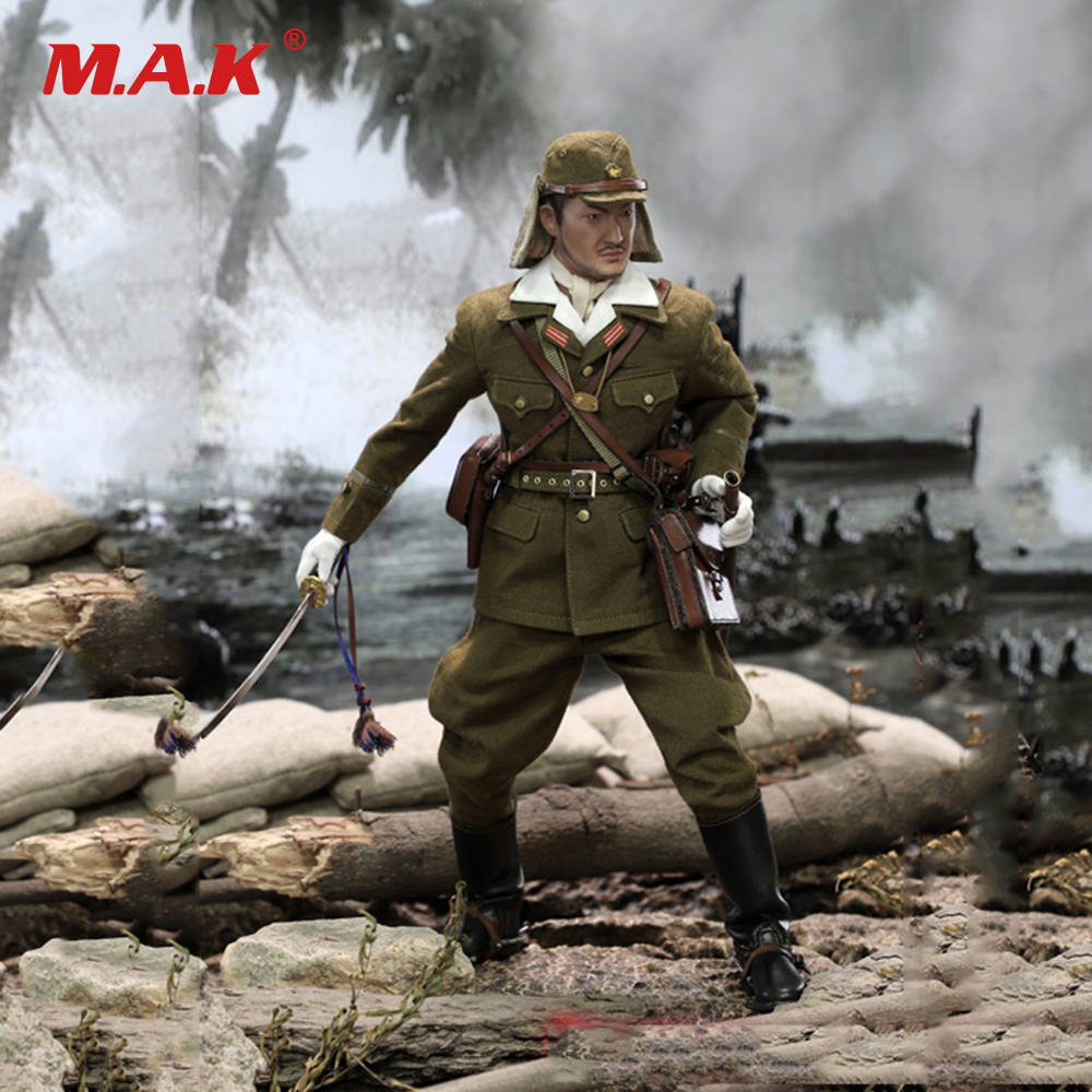 все цены на Collectible Soldier Figure Model Toys JP639 1/6 Scale Imperial Japanese Army First Lieutenant Sachio Eto Figure Toy for Gift онлайн