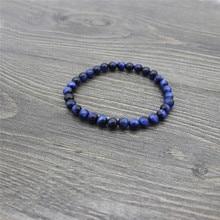 2019 Ethnic style unisex natural blue tiger eye bracelet length 19cm
