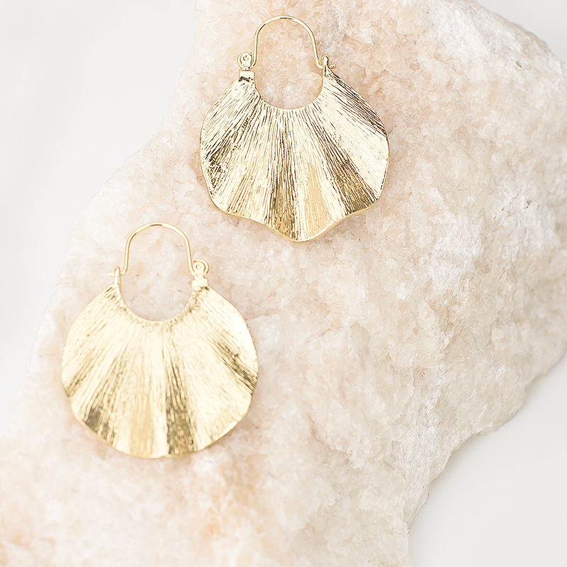 Wanita Trendy Gaya Emas Geometris Bentuk drop Earrings Vintage Zinc - Perhiasan fashion - Foto 2