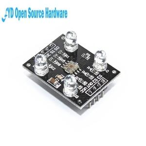 Image 3 - 1 pces sensor de cor tcs230 tcs3200 módulo de reconhecimento de cor detector dc 3 5v entrada