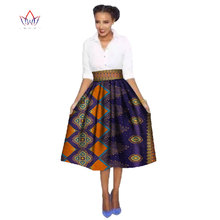 2019 Autumn African Women Clothes Denim Skirts Gilr Dame Africaine Robe Bazin Riche Plus Size 6XL Womens Skirts Striped WY384