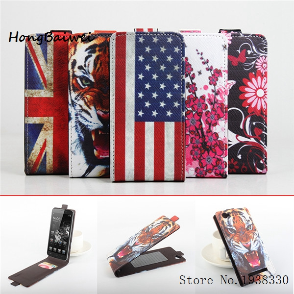 Hongbaiwei 5 Painted Patterns Homtom HT6 PU Leather Flip Stand Case Cover For Homtom HT6 Smartphone Full Protect Cover Skin Hols