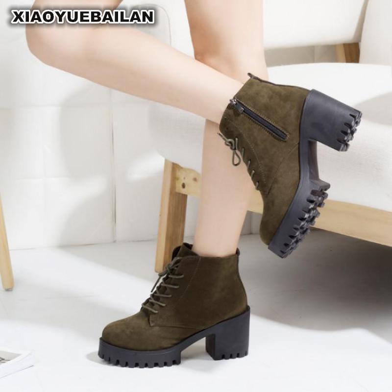 2018 Autumn Winter Coarse And Frende Suede Short Boots Children Waterproof Platform Martin