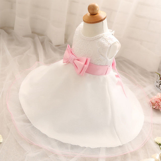 New Elegant Girls Vestido Infantil for Baby Summer Newborn Kids Clothes Print Design Hook Flowers Toddler Baby Wedding Dresses