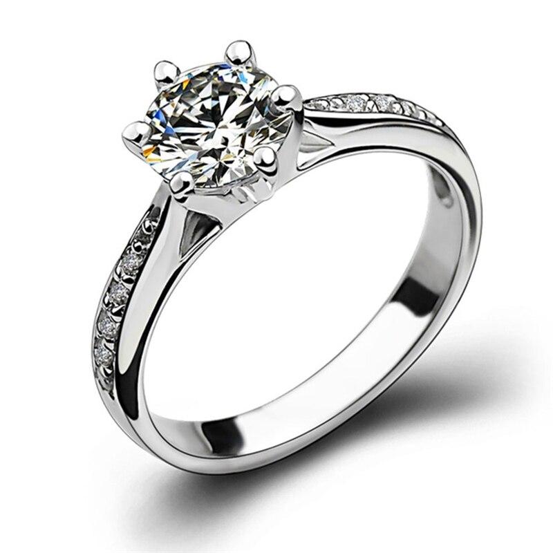 Loredana женские кольца стильные однорядные прозрачные циркониевые белые золотые свадебные ювелирные изделия, обручальное кольцо подарок на д...