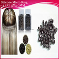 1000units 4.5x2.5x3.0mm aluminum ring with silicone line for tip hair silicone micro bead/link