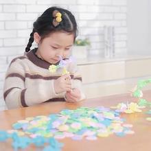 500pcs thick color pieces of snowflake assembled bulk building blocks children early education block Toys