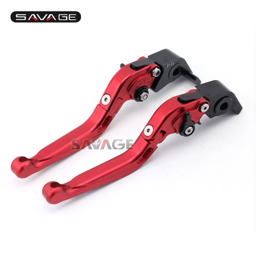 For MV Agusta F4RR 2012 2013 2014 Motorcycle Aluminum Adjustable Folding Extendable Brake Clutch Lever Red
