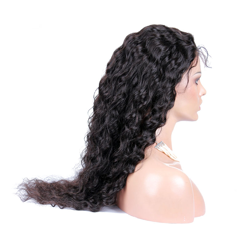 250 Density Water Wave Lace Front Human Hair Wigs For Women Glueless 13X6 Brazilian Lace Front Wigs Pre Plucked  You May Remy